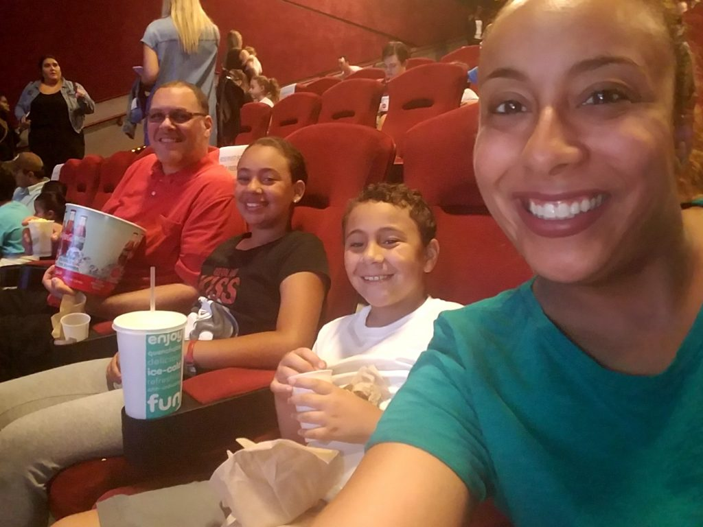 Fernandez Family at the Captain Underpants The First Epic Movie Screening