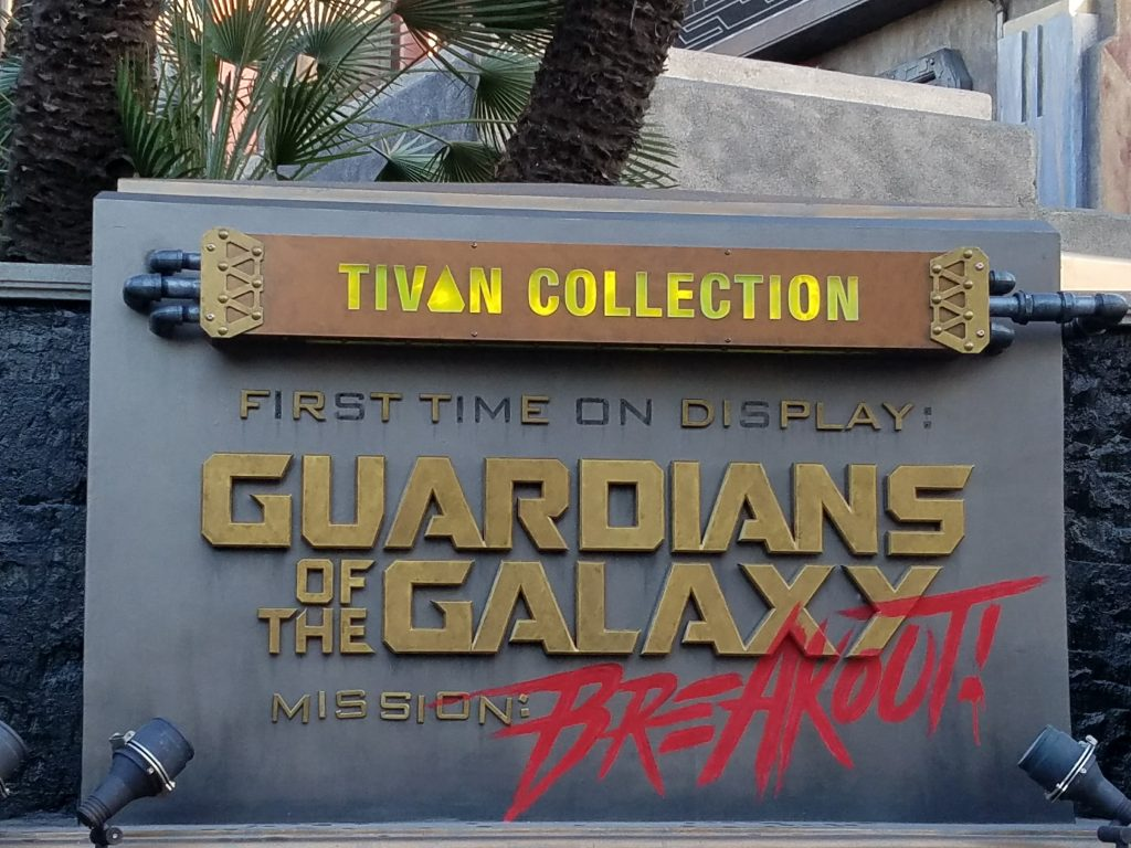 Guardians of the Galaxy Mission Breakout Sign