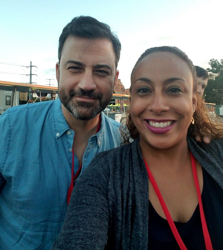 Jimmy Kimmel and Leanette Fernandez