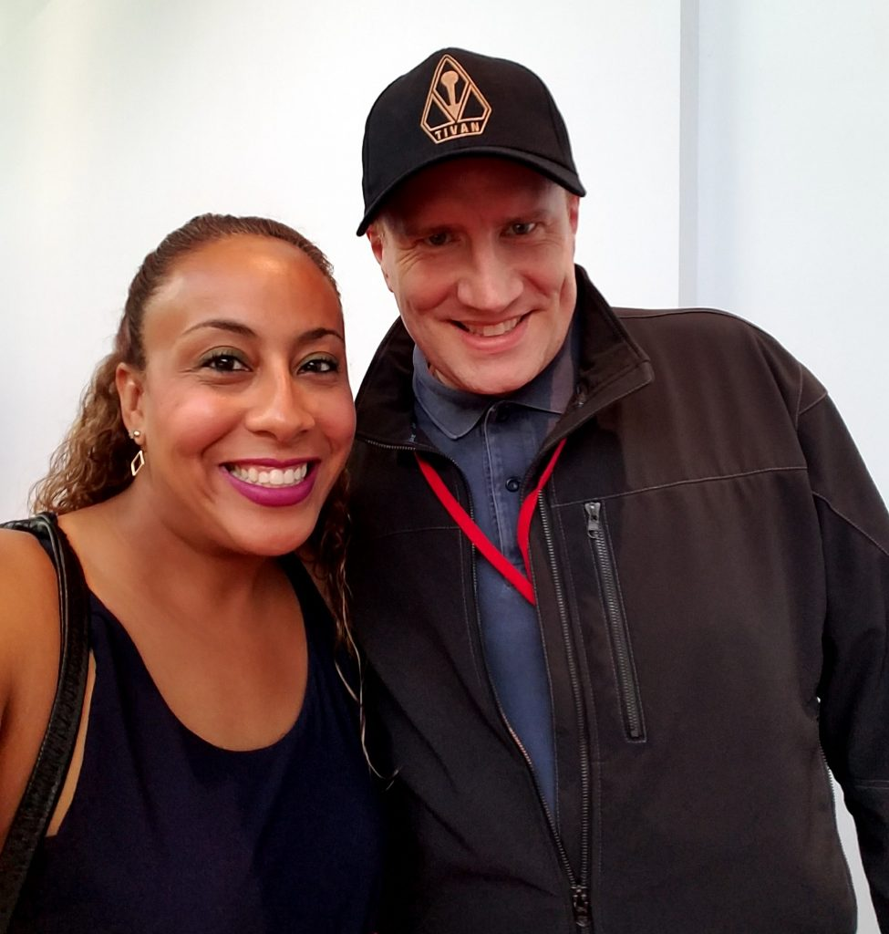 Kevin Feige and Leanette Fernandez