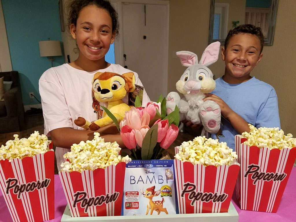 Kiddos at Bambi Viewing Party