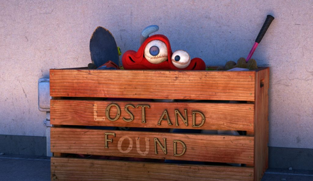 "LOU - When a toy stealing bully ruins recess for a playground full of kids, only one thing stands in his way: the ""Lost and Found"" box. From Pixar Animation Studios, ""Lou"" opens in theaters on June 16, 2017, in front of ""Cars 3."" ©2017 Disney•Pixar. All Rights Reserved."