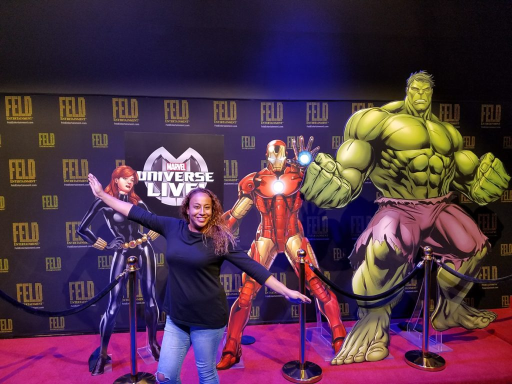 Leanette Fernandez at Marvel Universe LIVE! Behind the Scenes Experience
