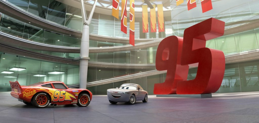 """SIMPLY STERLING—In""""Cars 3,"""" Lightning McQueen (voice of Owen Wilson) is invited to trainatthebrand-new, elite, high-tech Rust-eze Racing Center, run by an always-dapper, brilliant businesscar named Sterling. Featuring Nathan Fillion(ABC's """"Castle,"""" ABC's """"Modern Family"""")asthe voice ofSterling, Disney•Pixar's """"Cars 3"""" opens in U.S. theaters on June 16, 2017.©2017 Disney•Pixar. All Rights Reserved."""