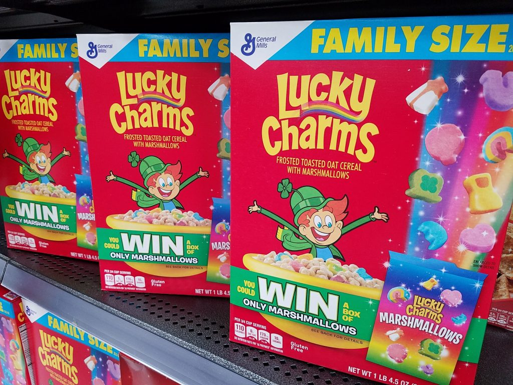 Lucky Charms Marshmallow on shelf