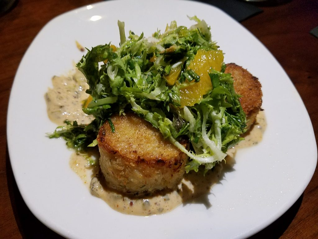 The Tuck Room - Brioche-Crusted Crab Cakes