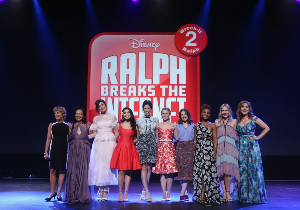 Disney Princesses on stage at the D23 Expo 2017