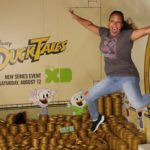 Jumping Into Scrooge McDuck's Money Bin at the D23 Expo