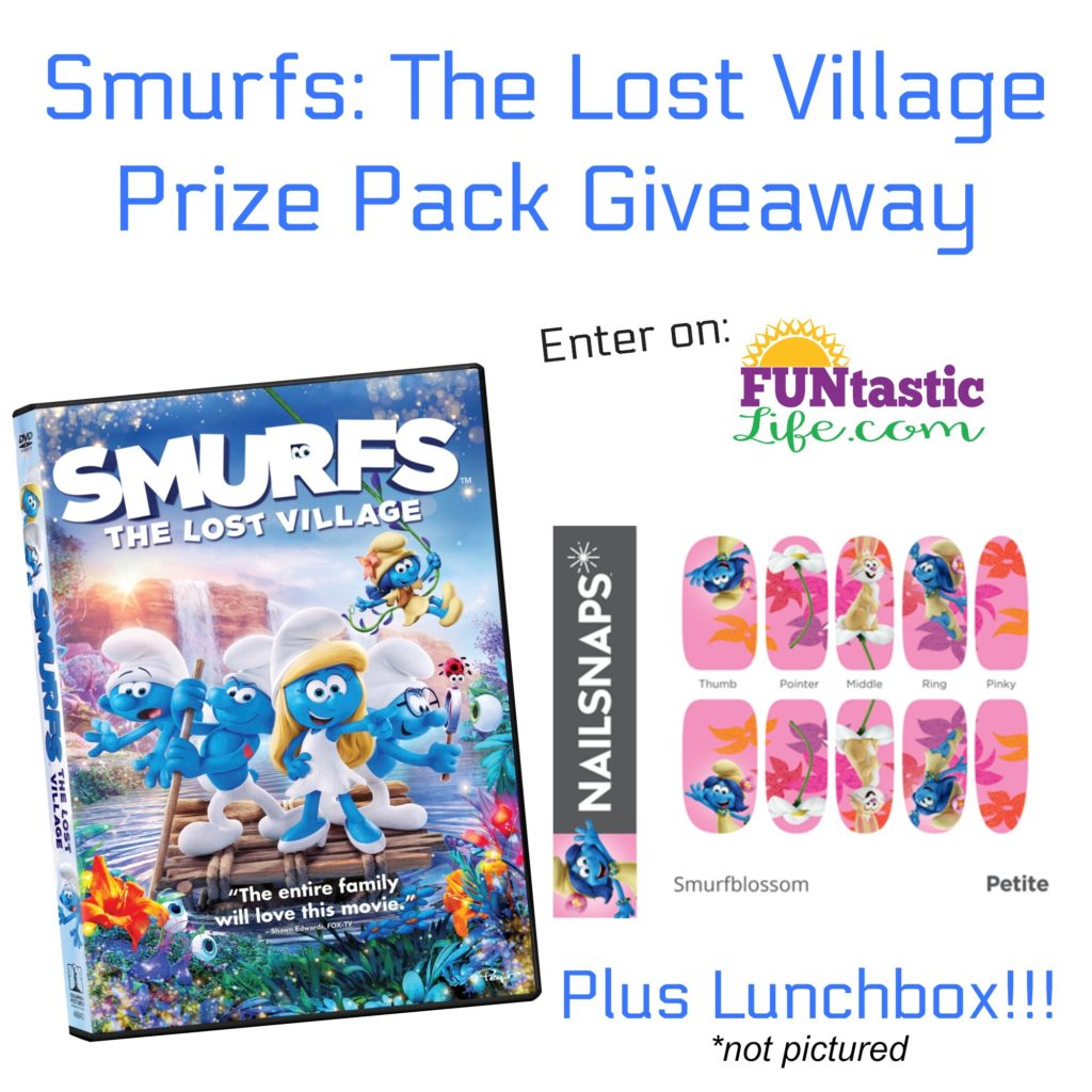 Smurfs The Lost Village Prize Pack Giveaway