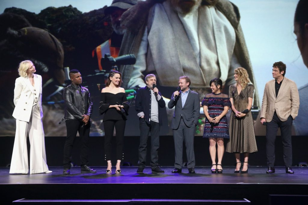 Star Wars The Last Jedi Talents at the D23 Expo 2017