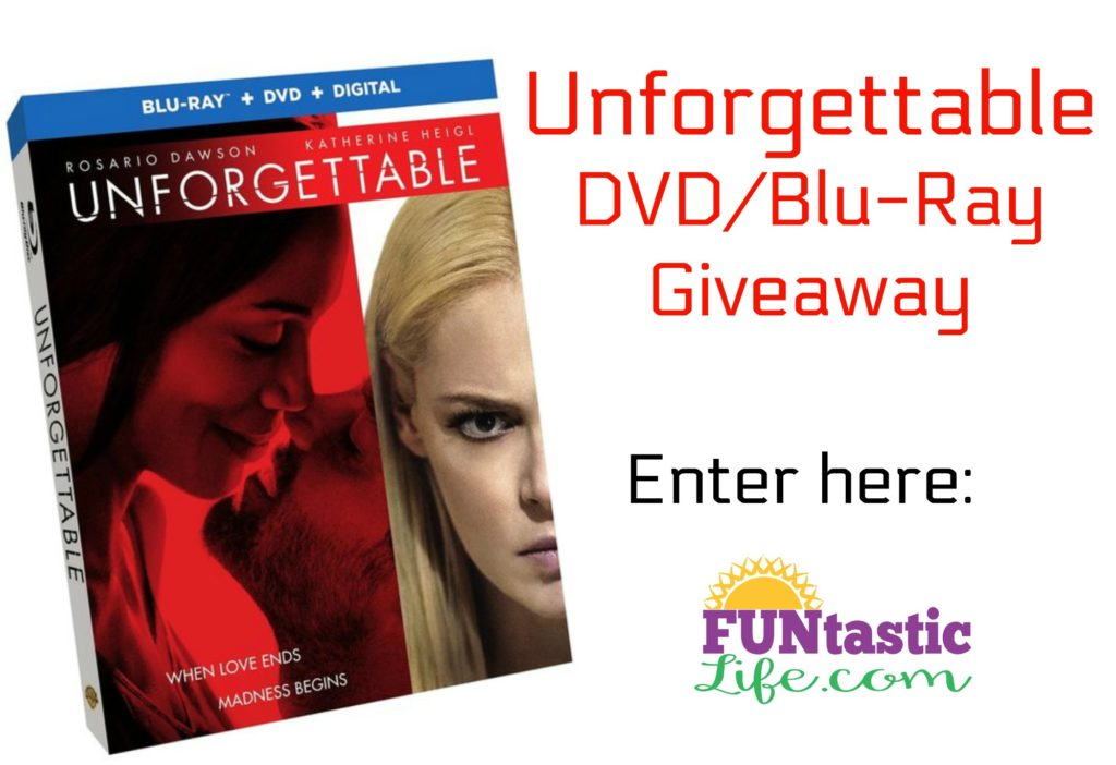 Unforgettable DVD Giveaway