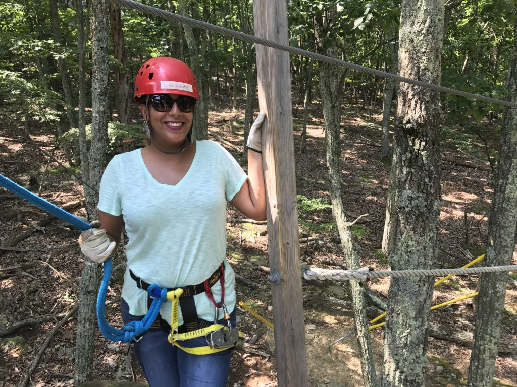 Leanette Fernandez at Massanutten Resort Family Adventure Park