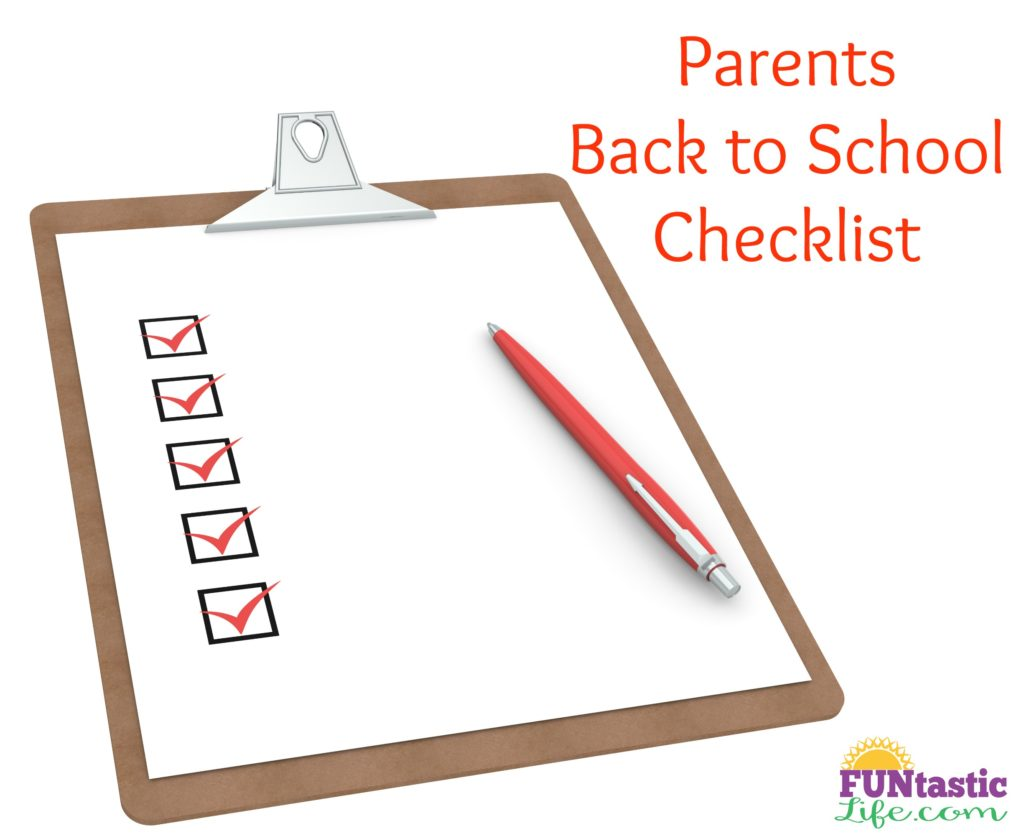 Parents Back to School Checklist