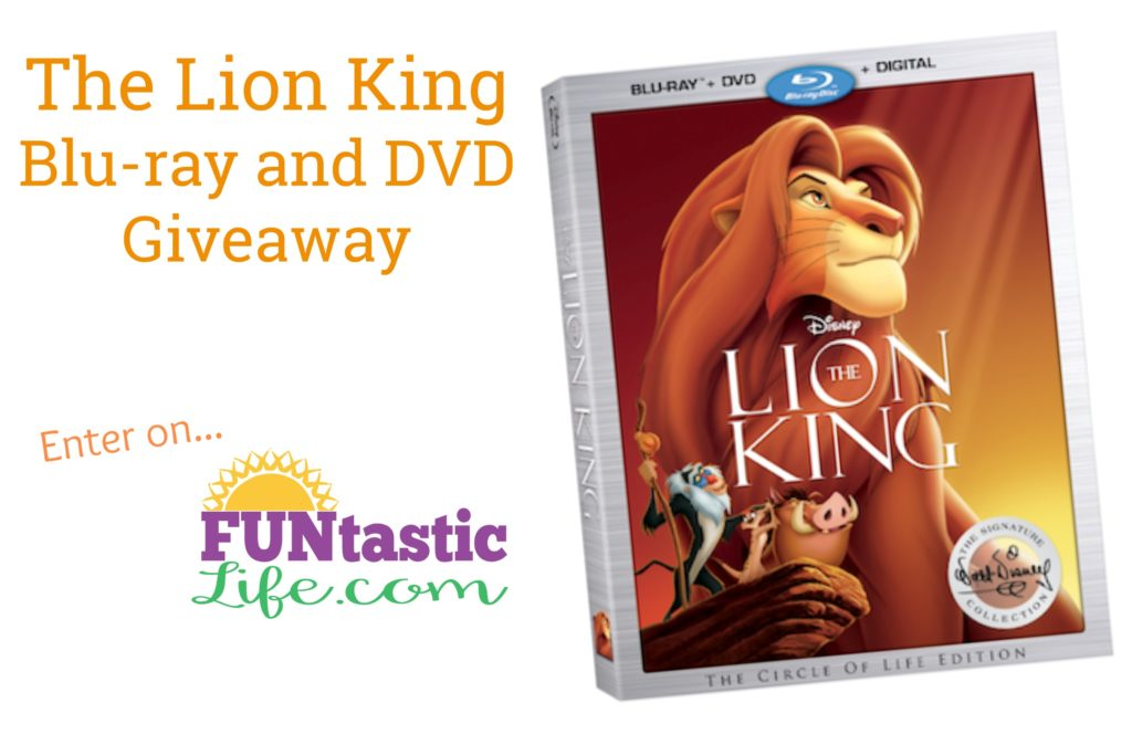 The Lion King Blu-ray and DVD Giveaway