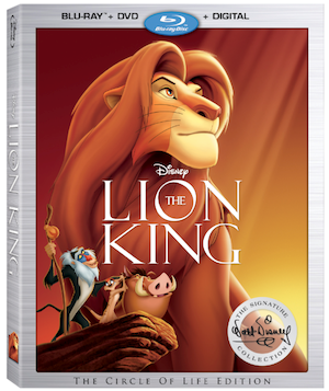 The Lion King Blu-ray and DVD