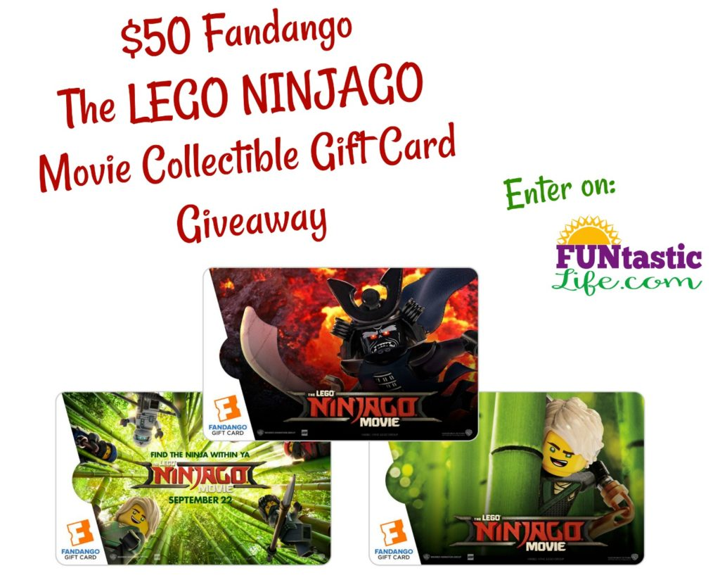 $50 Fandango The LEGO NINJAGO Movie collectible gift card Giveaway