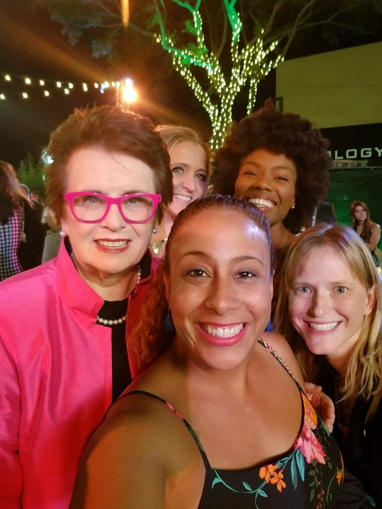 Billie Jean King and Leanette Fernandez