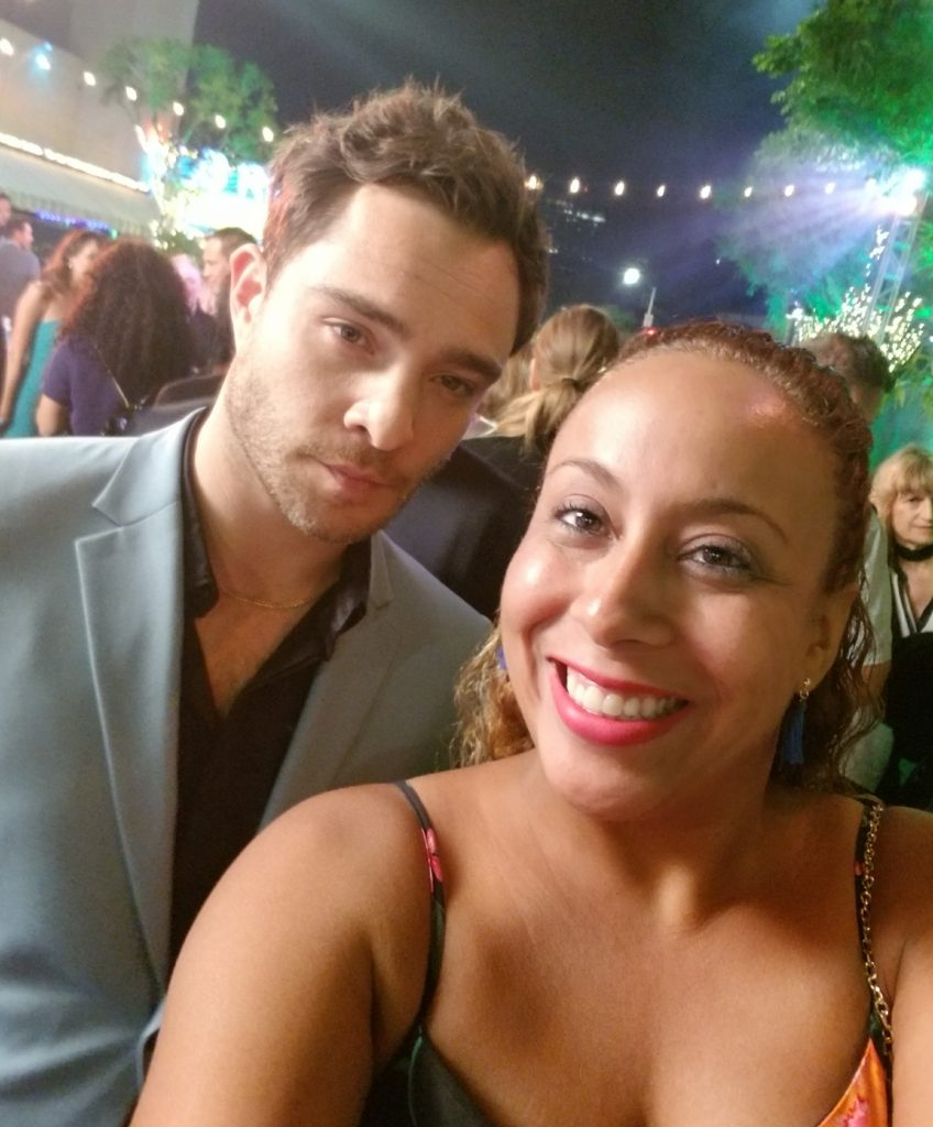 Ed Westwick and Leanette Fernandez