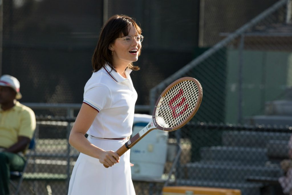 Emma Stone in the BATTLE OF THE SEXES movie. Photo by Melinda Sue Gordon. © 2017 Twentieth Century Fox Film Corporation All Rights Reserved
