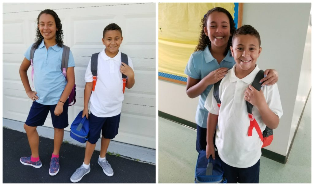 Kiddos1st day of school 2017