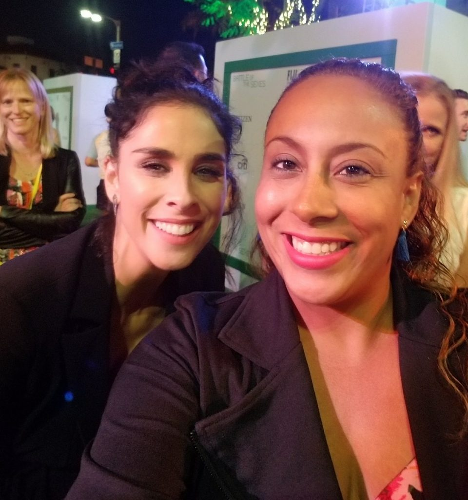Sarah Silverman and Leanette Fernandez