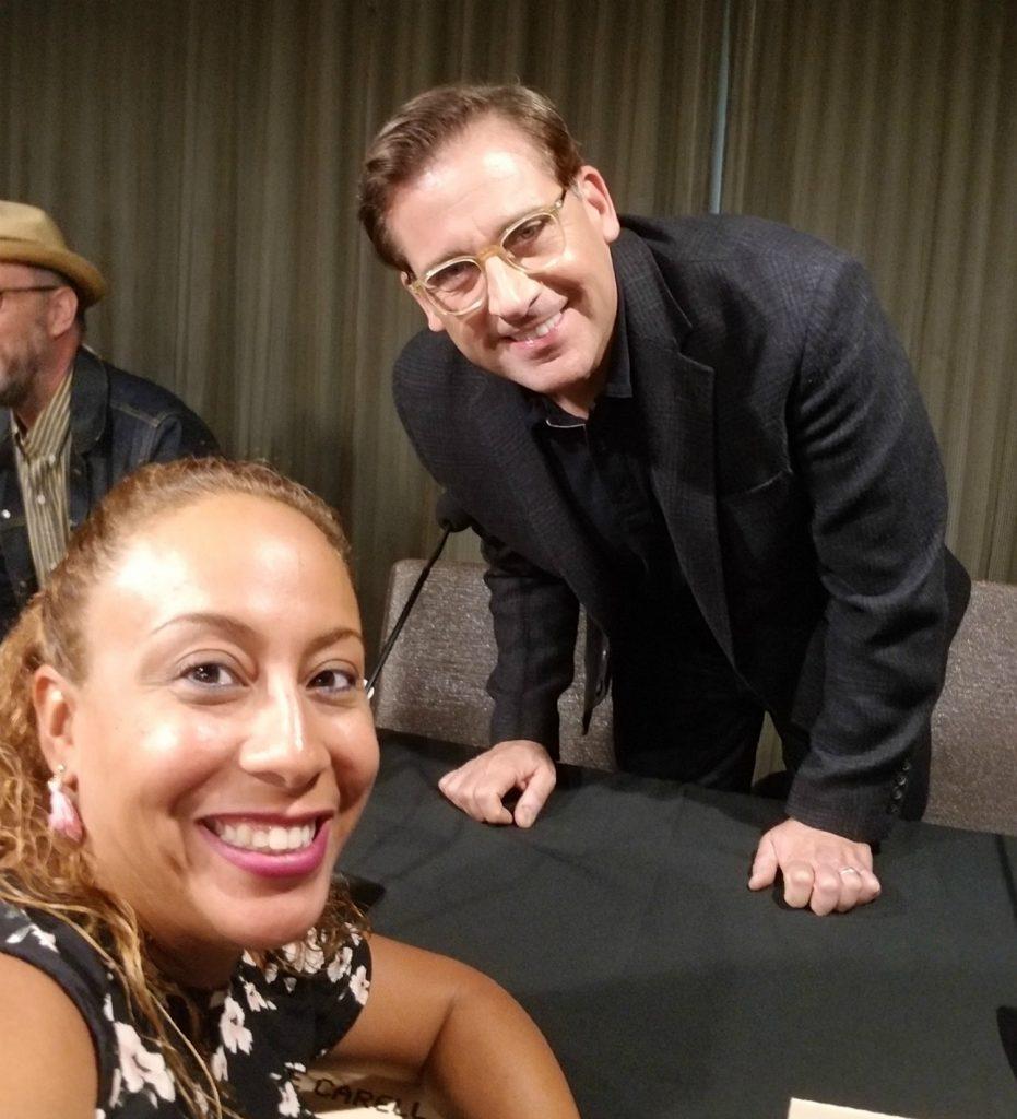 Steve Carell and Leanette Fernandez R