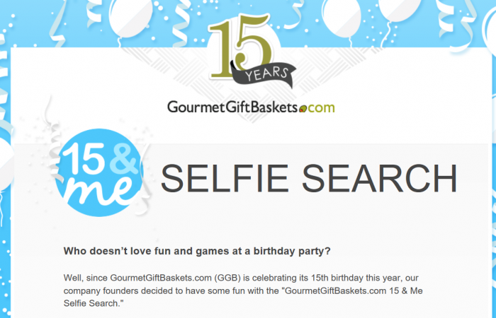 GourmetGiftBaskets.com Selfie Search Contest (Plus GIVEAWAY!!!!)