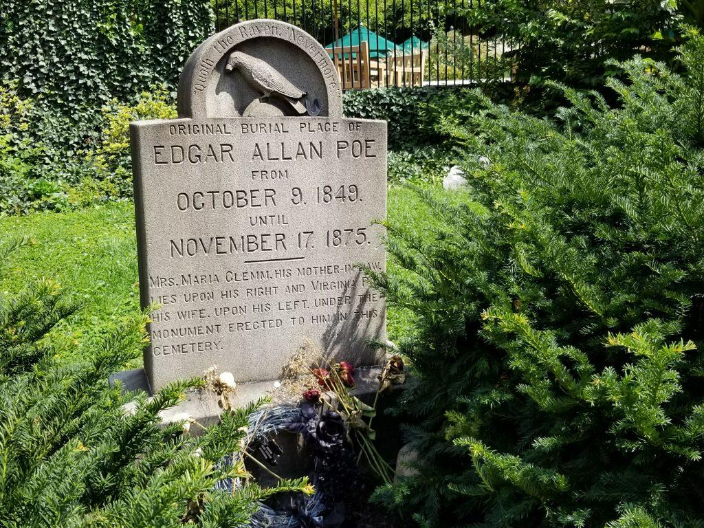 Original burial place of Edgar Allan Poe