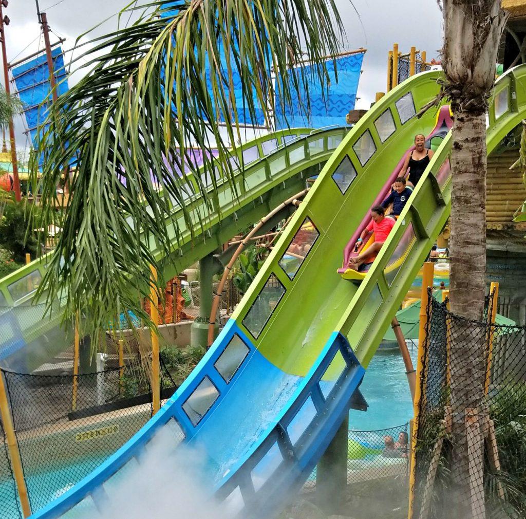 Riding the Krakatau Aqua Coaster