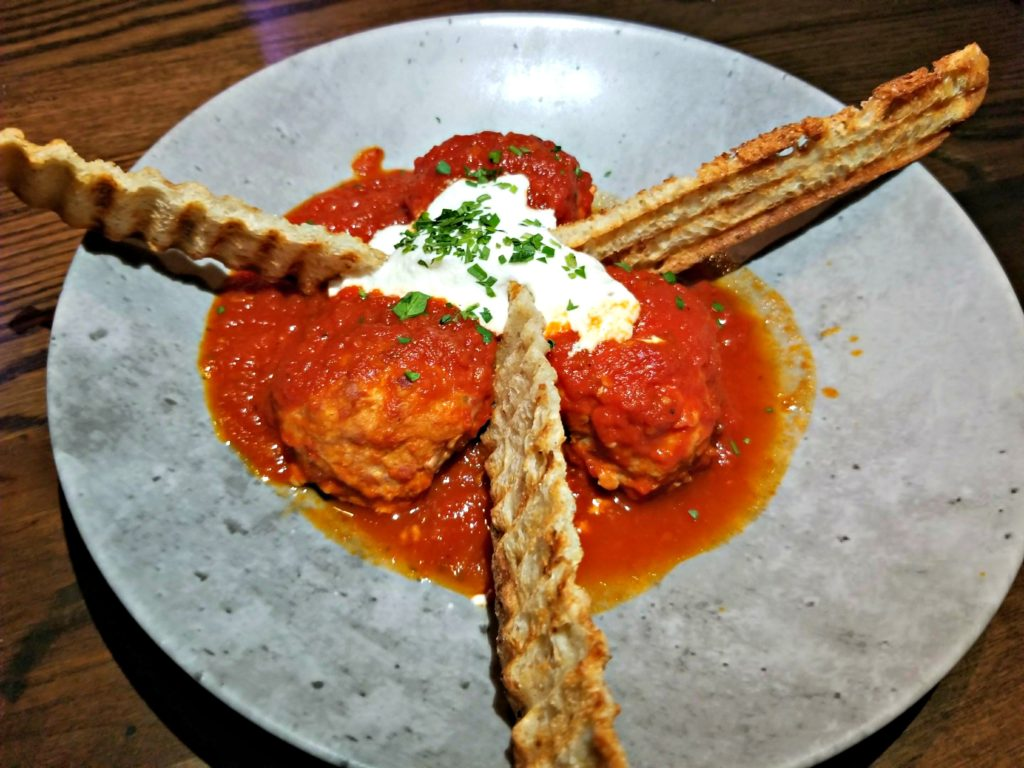 Housemade Meatballs at Tanzy Restaurant