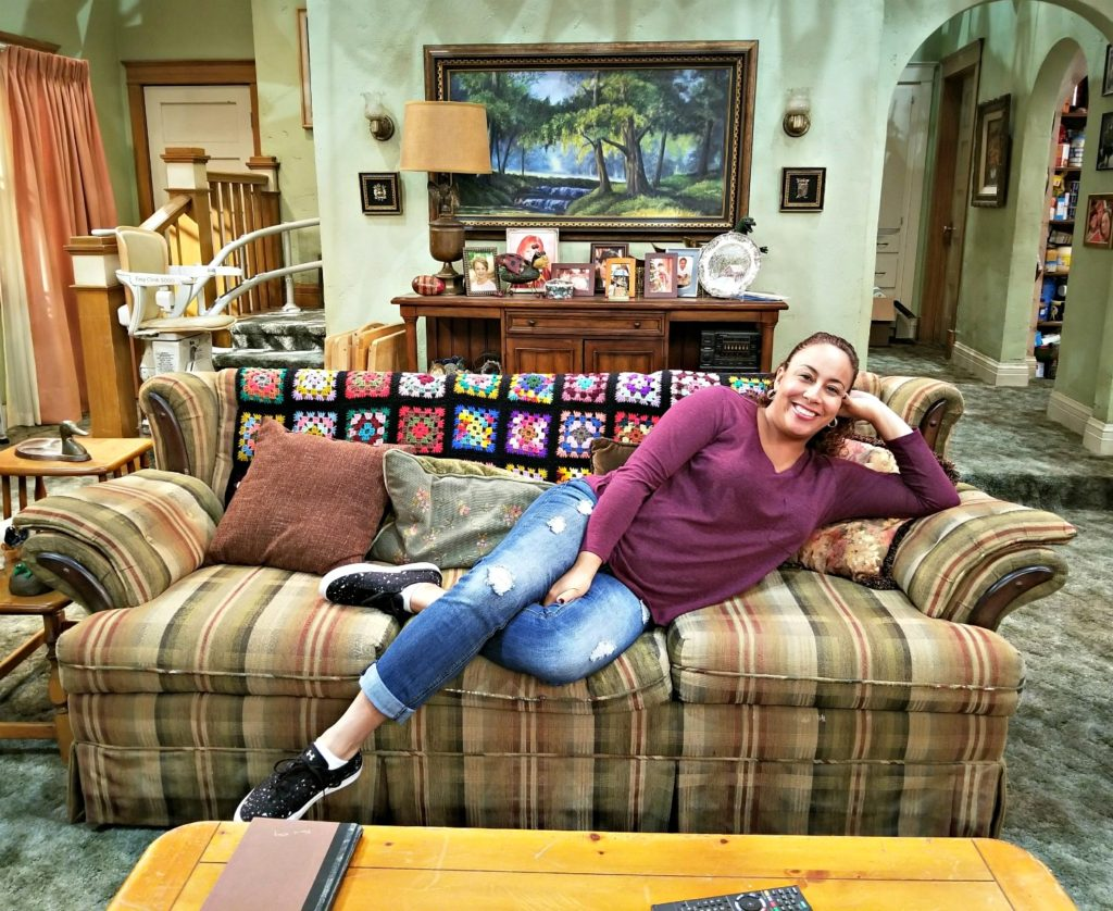 Leanette on the Roseanne Set Couch