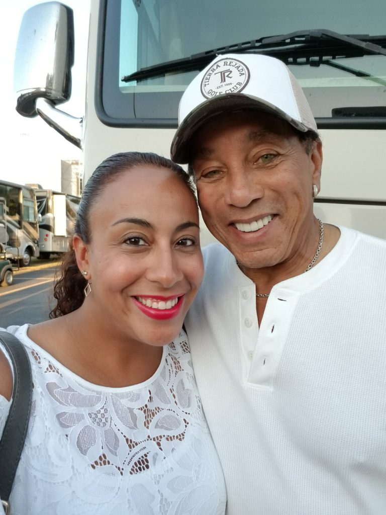 Smokey Robinson and Leanette Fernandez at Jazz In The Gardens Festival