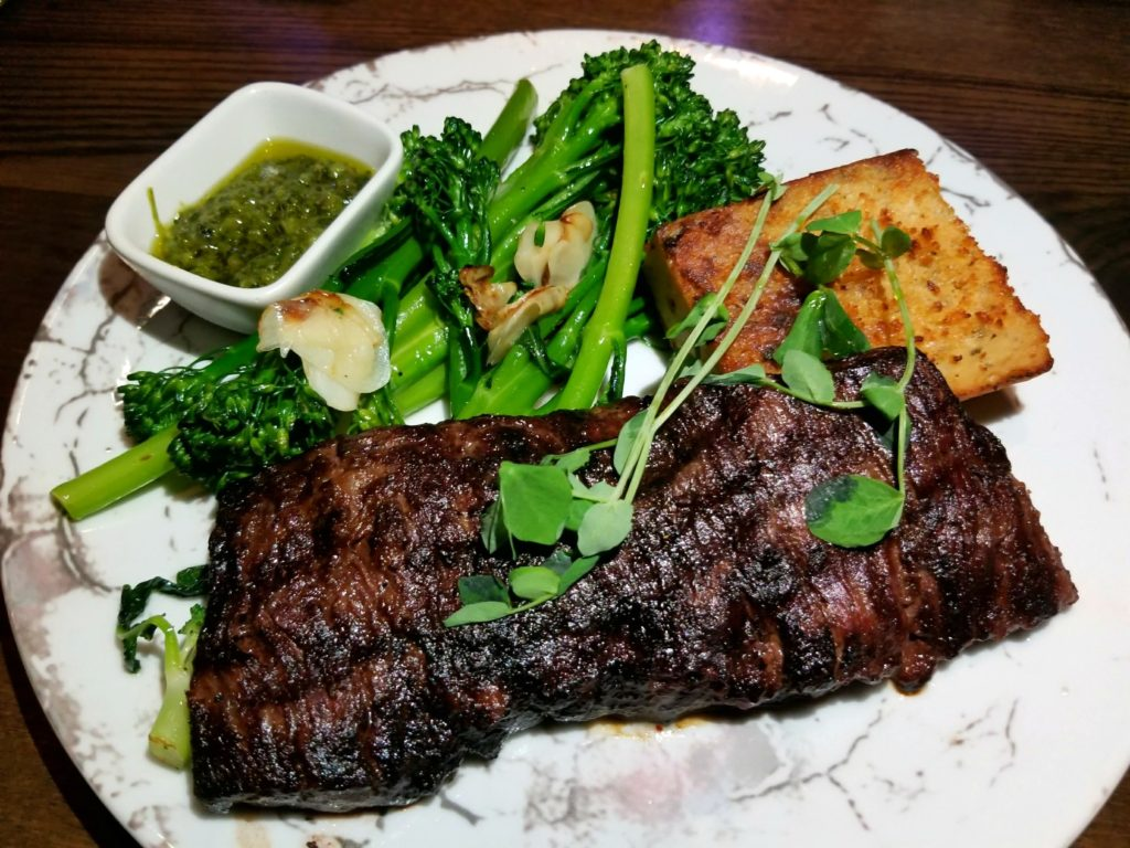 Wagyu Skirt Steak at Tanzy Restaurant