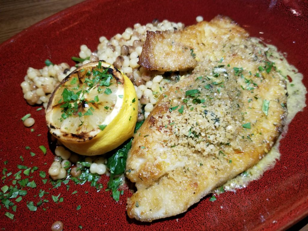 Yellowtail Snapper Oreganata at Prezzo