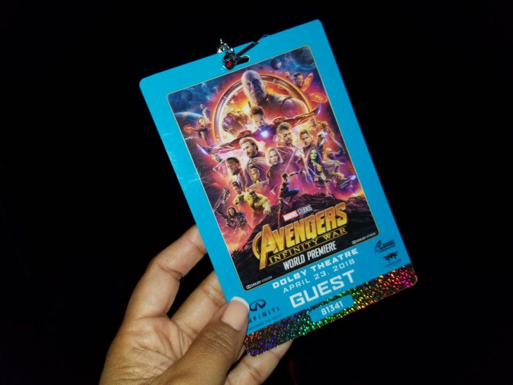 Avengers Infinity War World Premiere Badge