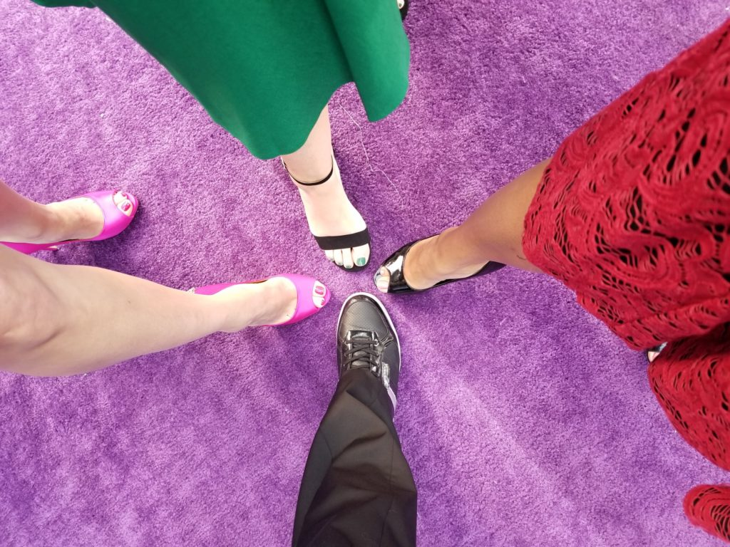 Shoes on the Avengers Infinity War World Premiere Purple Carpet