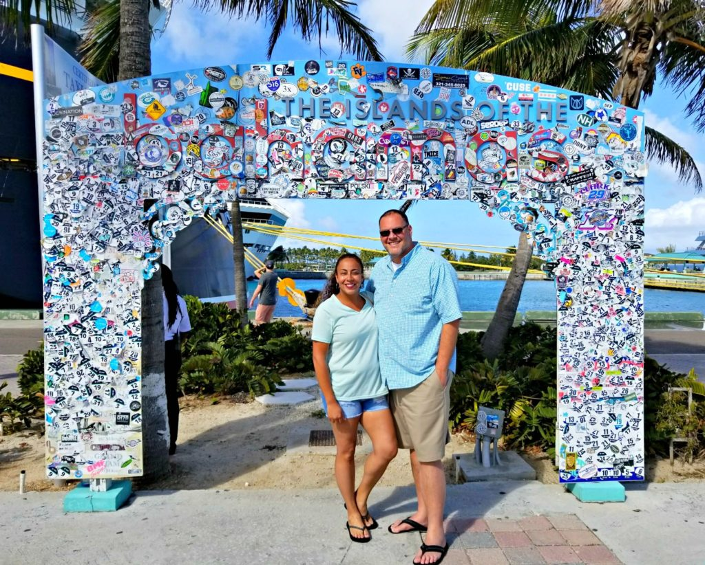 couple in the Bahamas