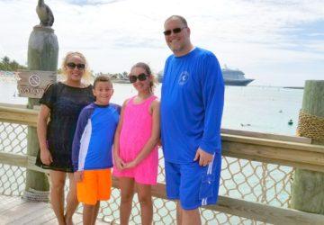 Family on Castaway Cay