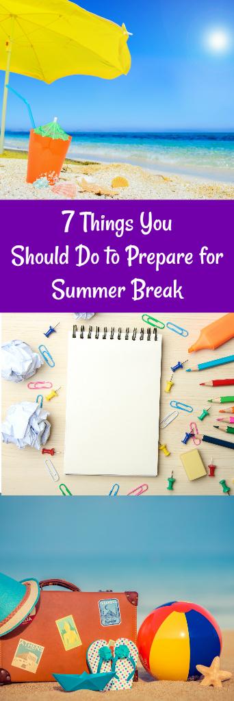 Prepare for Summer Break