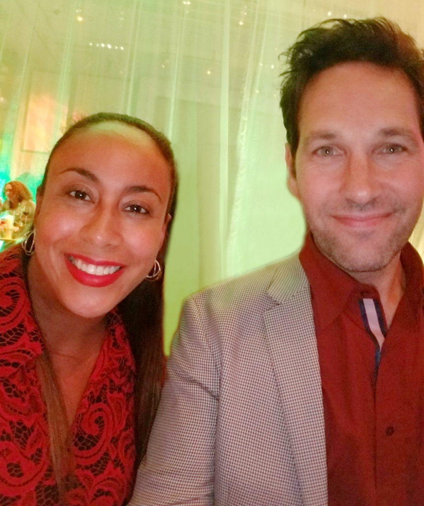 Paul Rudd and Leanette Fernandez