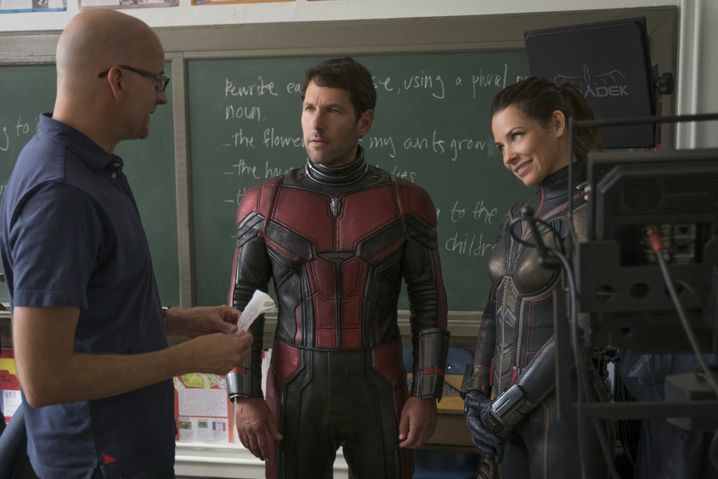 Peyton Reed on the Ant-Man And The Wasp set