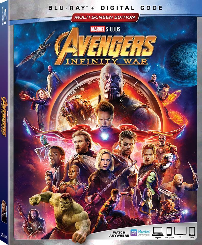 Avengers Infinity War DVD Blu-ray