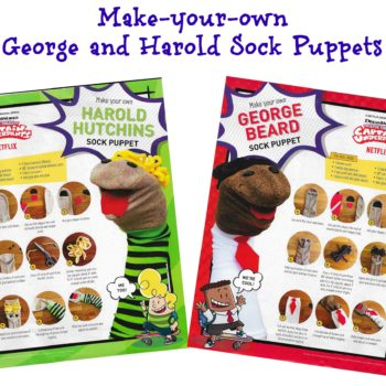Captain Underpants Inspired Sock Puppets