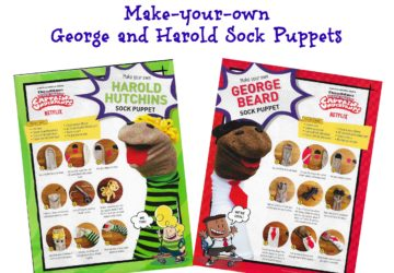 Captain Underpants Sock Puppets Instructions