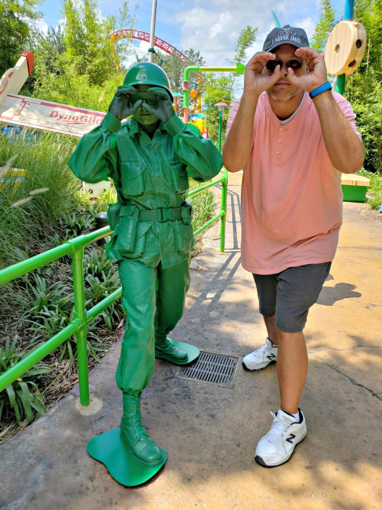 Green Army Man at Toy Story Land