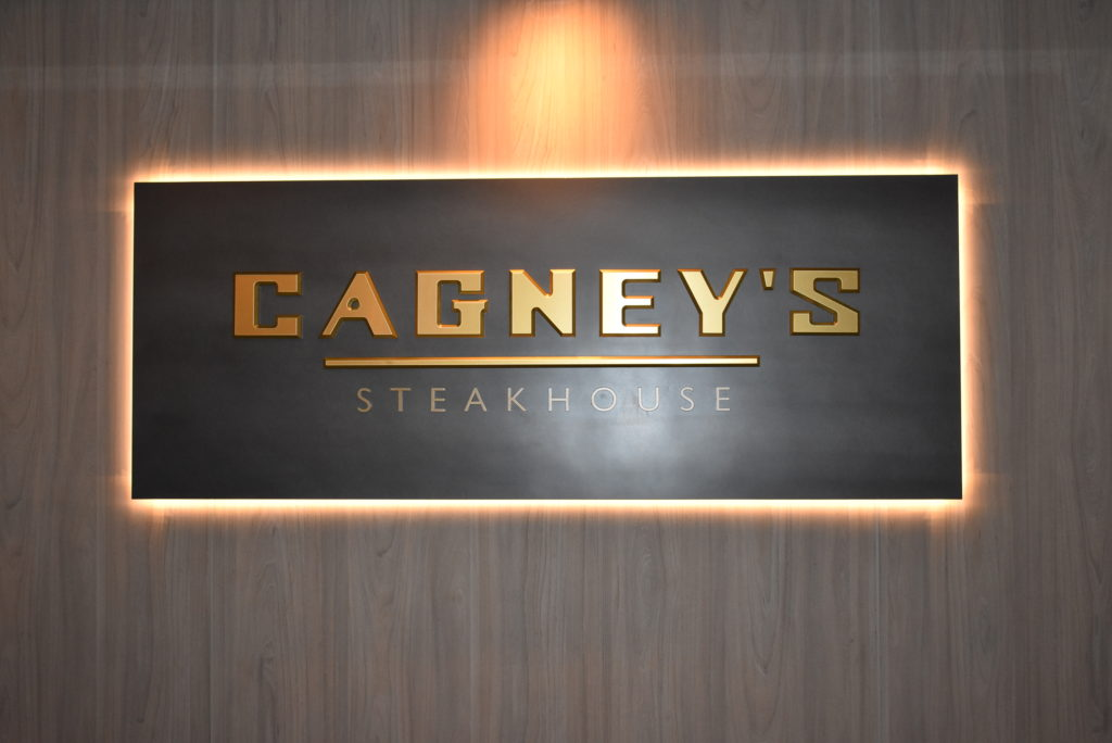Cagney's Steakhouse aboard the Norwegian Bliss