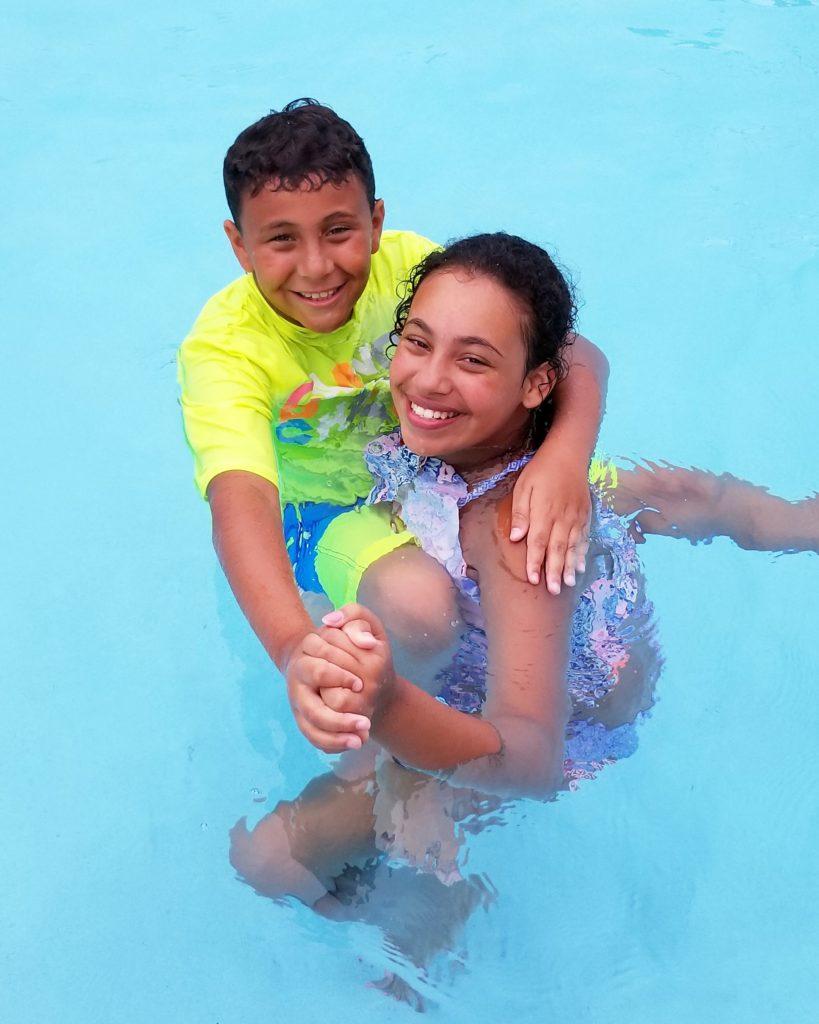 Kiddos swimming