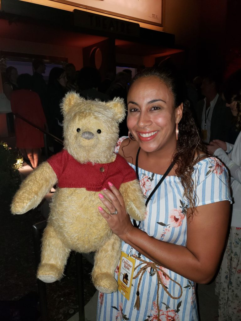 Leanette Fernandez and Winnie thePooh