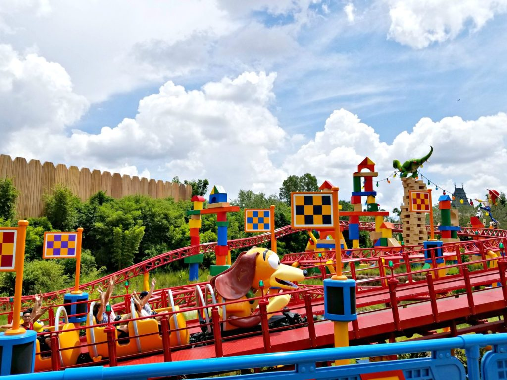 Slinky Dog Dash Roller Coaster at Toy Story Land