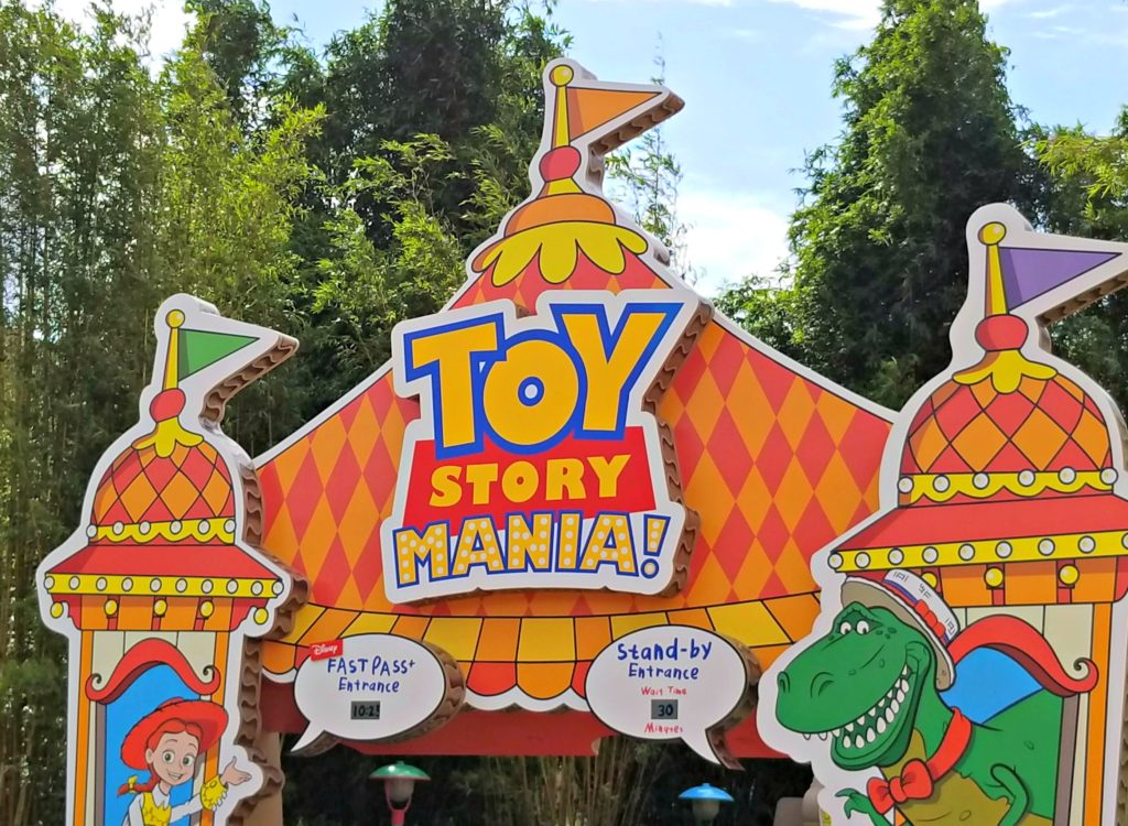 Toy Story Mania Ride at Toy Story Land